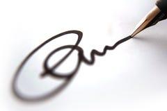 商业函件签名 库存照片