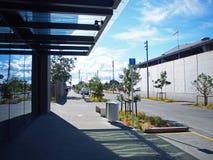 商业区域在城市 免版税库存照片