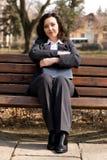 商业区妇女 免版税库存图片