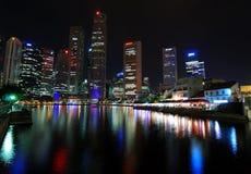 商业区s新加坡 库存照片
