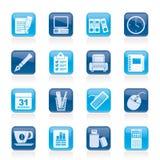 商业和办公设备图标 免版税库存照片