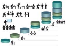 商业图表和象 向量例证