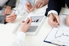 商业图表 免版税图库摄影