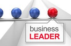商业在路径白色的查出的领导先锋 免版税库存图片