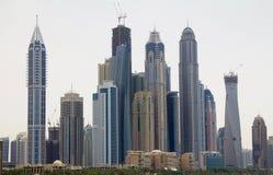 商业大厦在街市迪拜,阿拉伯联合酋长国 免版税库存图片