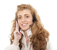 商业客户女性有代表性的服务 库存照片