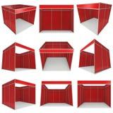 商业展览摊红色和白色空白的集合 皇族释放例证