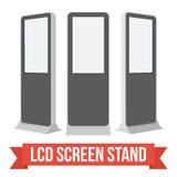 商业展览摊LCD屏幕立场 皇族释放例证
