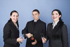 商业庆祝他们人的成功 免版税库存照片