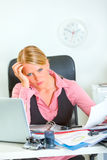 商业强调了妇女工作 免版税库存照片