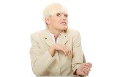 商业强调的妇女 免版税库存图片