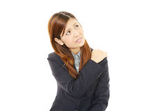 商业强调的妇女 免版税库存照片