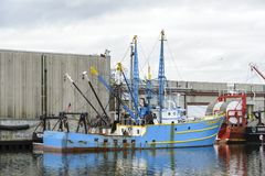 商业性捕鱼船圣塔巴巴拉 库存照片