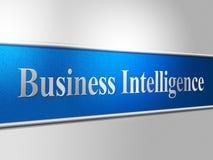 商业情报显示智力容量和敏锐 免版税图库摄影