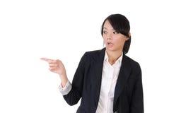 商业惊奇的妇女 免版税库存图片