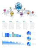 商业投资infographics 库存照片