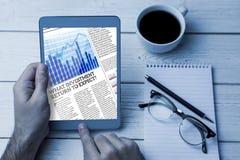 商业报纸的综合图象 免版税库存图片