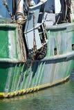 商业捕鱼业小船在Belford,新泽西 库存图片