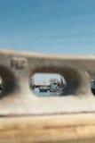 商业捕鱼业小船在Belford,新泽西 图库摄影