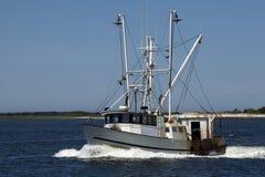 商业捕鱼业小船 库存照片