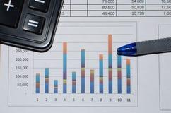 商业文件图表 免版税库存照片