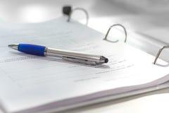 商业文件 免版税库存照片