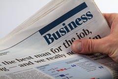 商业新闻纸张 免版税图库摄影