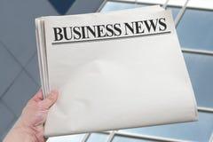 商业新闻 免版税图库摄影