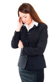 商业有头疼妇女 免版税库存图片