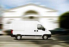 商业有篷货车白色 免版税库存照片