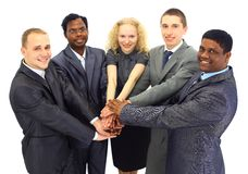 商业查出在小组 免版税库存照片