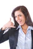 商业查出白人妇女 免版税库存照片