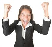 商业查出的成功赢利地区妇女 免版税库存照片
