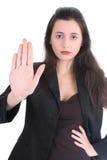 商业没有发言权严重的妇女 图库摄影