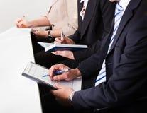商业注意采取小组的人 免版税图库摄影
