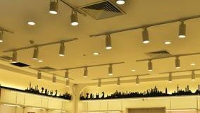 商业照明设备,被带领的灯 图库摄影
