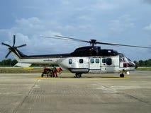 商业直升机 免版税库存图片