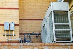 商业空调装置 图库摄影