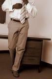 商业穿戴的人井 免版税库存照片