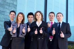 商业给正式人员穿衣六个年轻人 免版税库存图片