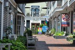 商业街在Provincetown,鳕鱼角在马萨诸塞 库存图片