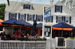 商业街在Provincetown,鳕鱼角在马萨诸塞 库存照片