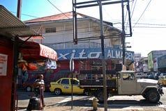 商业街IV -大卫-巴拿马共和国 免版税库存照片