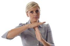 商业计时妇女 免版税库存图片