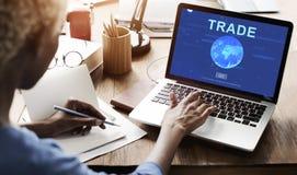 商业证券交易投资贸易的概念 免版税库存照片