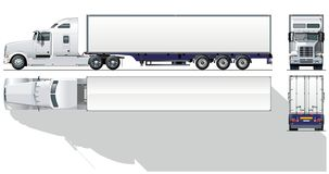 商业详细喂半卡车向量 免版税图库摄影