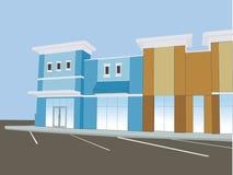 商业购物中心柔和的淡色彩 库存图片