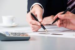 商业递合作伙伴 免版税库存照片
