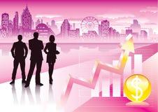 商业都市 免版税库存图片