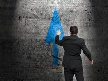商业领袖和决策过程 库存照片